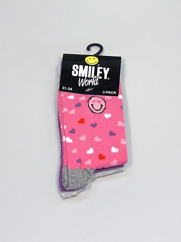 Smiley barnasokkar - Sex litir